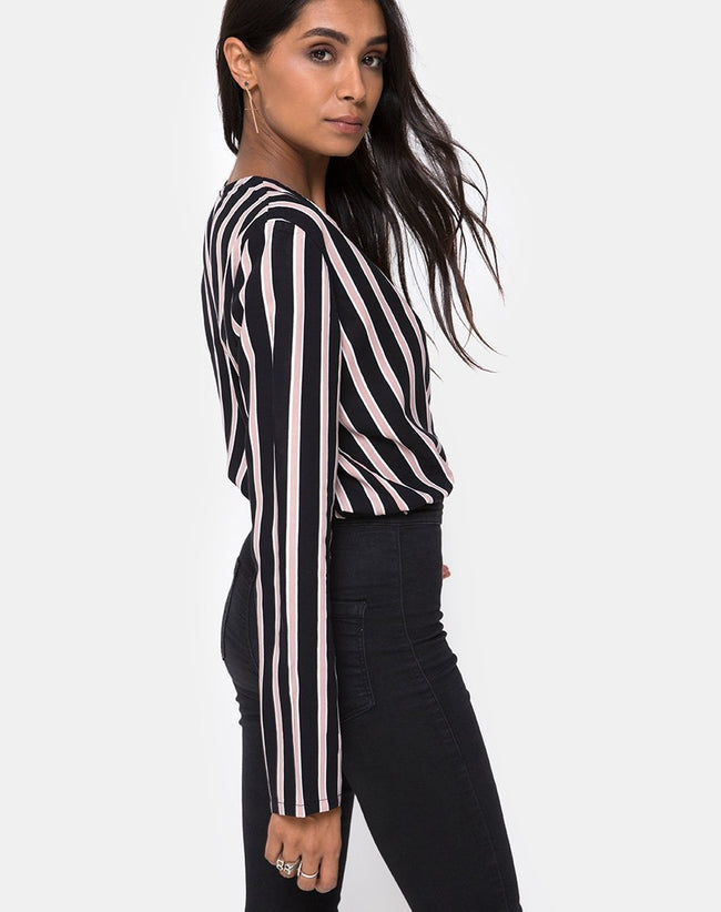 Daris Bodice in Formal Stripe By Motel