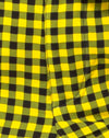 Dastan Trouser in Medium Gingham Yellow