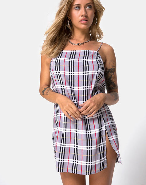 Datista Dress in Heritage Check By Motel