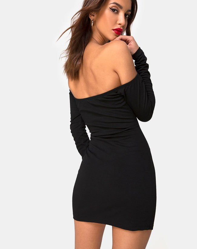 Derah Dress in Black by Motel