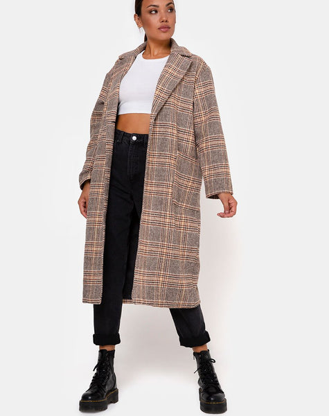 Duster Coat in Winston Check by Motel