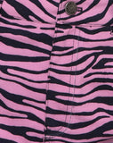 Exni Mini Skirt in Zip's Zebra Pink by Motel