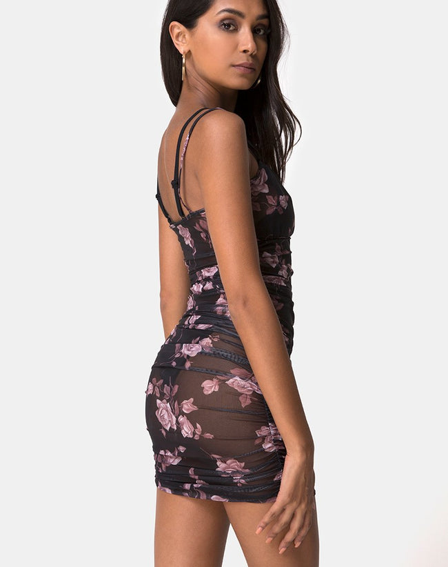Guenalia Dress in Dusky Rose by Motel