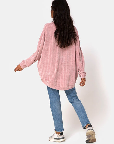 Jama Jumper in Knit Pink by Motel