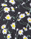 Jiro Short in Polka Daisy Black
