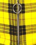 Jolim Tapered Trouser in Winter Plaid Yellow By Motel