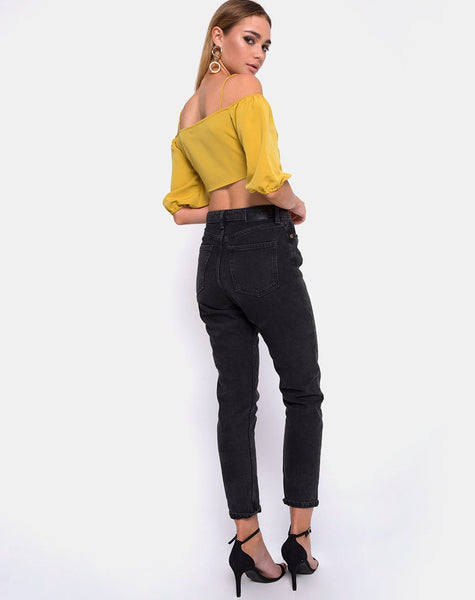 Kavon Crop Top in Mustard by Motel