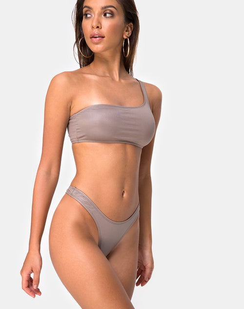 Keila Bikini Top in Coco by Motel