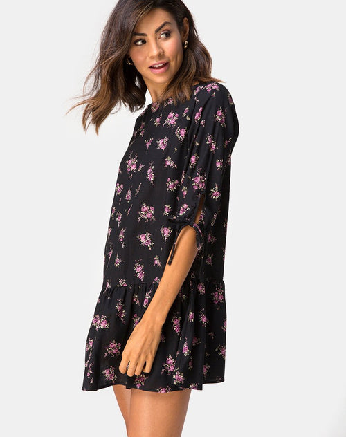 Khamea Dress in Sohey Rose Black by Motel