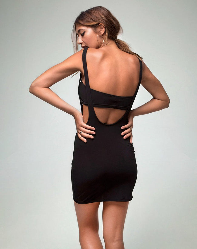 Peyton Minitube Dress in Black by Motel