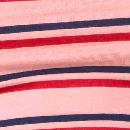 Fonda Crop Top in 70's Stripe Pink Horizontal by Motel