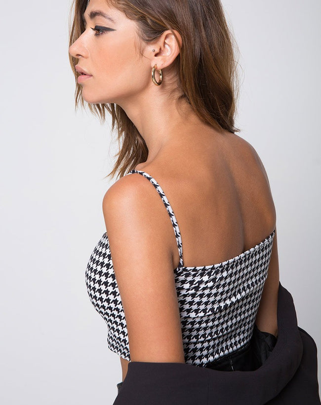 Kini Crop Top in Dogtooth by Motel