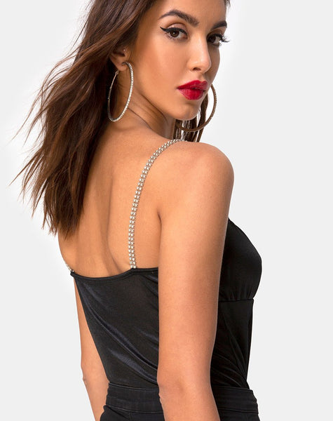 Kulin Bodice in Black with Diamante by Motel
