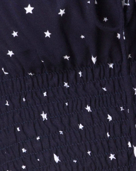 Lancer Crop Top in Stars Struck Navy by Motel