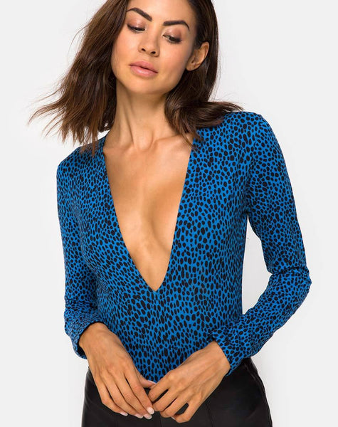Lao Bodice in Wild Cat Blue By Motel