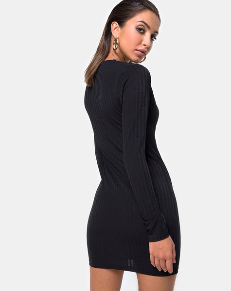 Laoda Bodycon Dress in Black by Motel