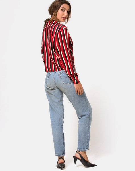 Lauv Shirt in Sunset Stripe Vertical by Motel