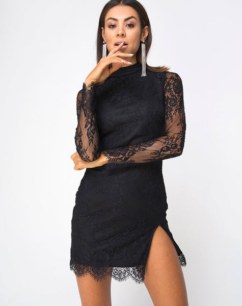 Lesora dress in Lace Black by Motel