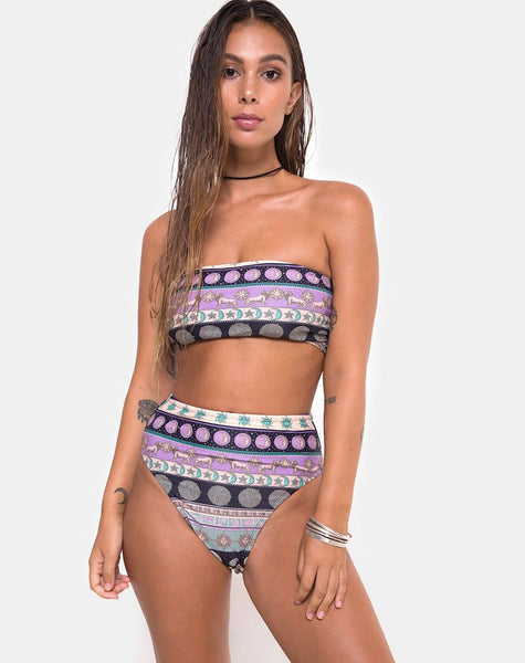 Lien Bikini Top in Eclipse by Motel