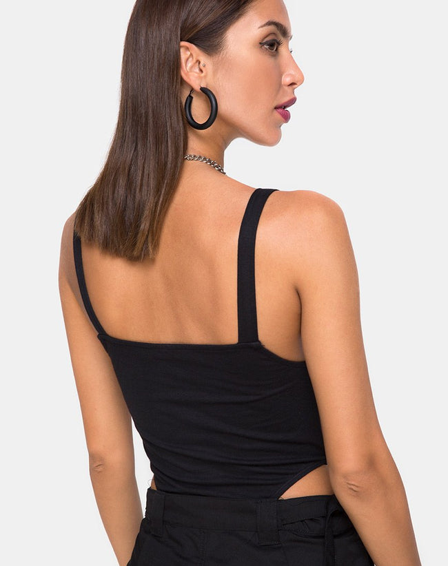 Limoc Bodice in Black Buckle by Motel
