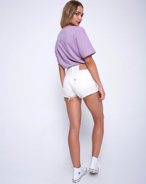 Oversize Basic Tee in Lovestings Lilac by Motel