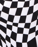 Maes Bodice in Square Flag Black and White by Motel
