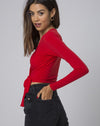 Marche Wrap Top in Red