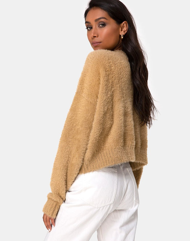Margo Jumper in Knit Taupe by Motel