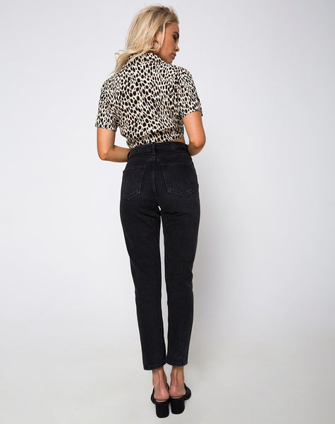 Marleigh Crop Top in Cheetah by Motel