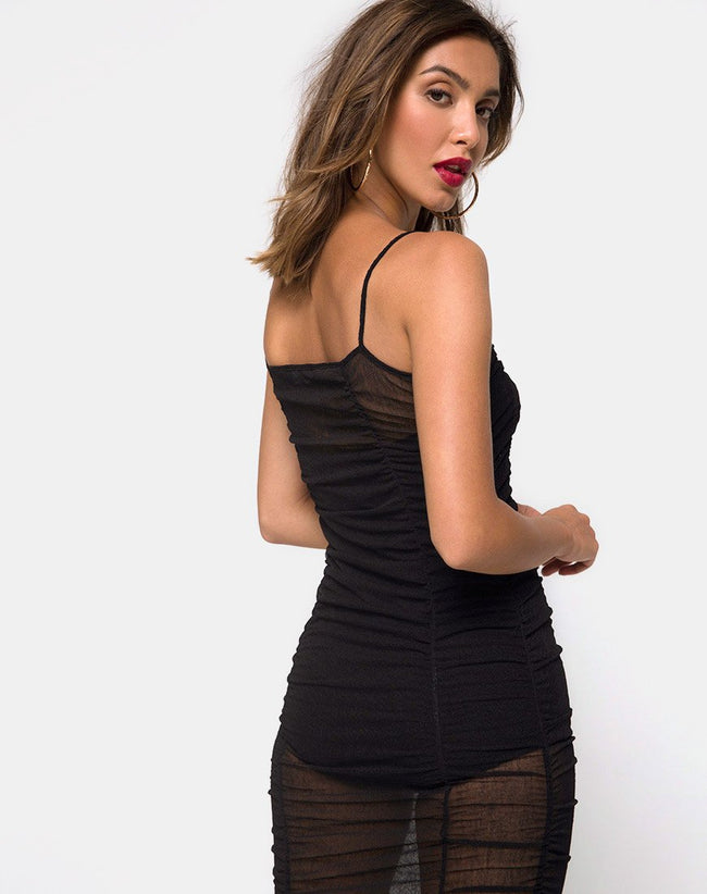 Mauna Bodycon Dress in Black by Motel
