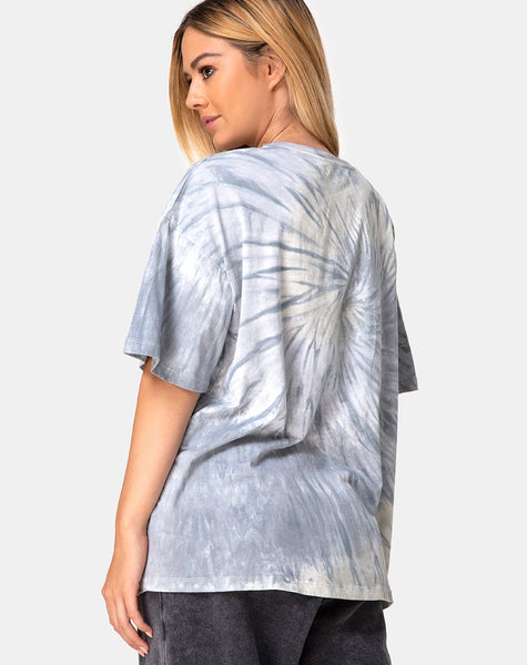Maxi Tee in Grey Tie Dye by Motel