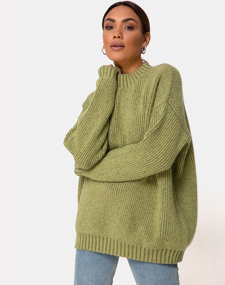 Oversize Cardigan in Animal Knit by Motel