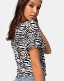 Monda Crop Top in Classic Zebra by Motel