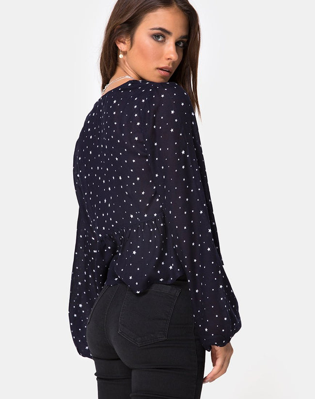 Mousye Top in Stars Struck Navy by Motel
