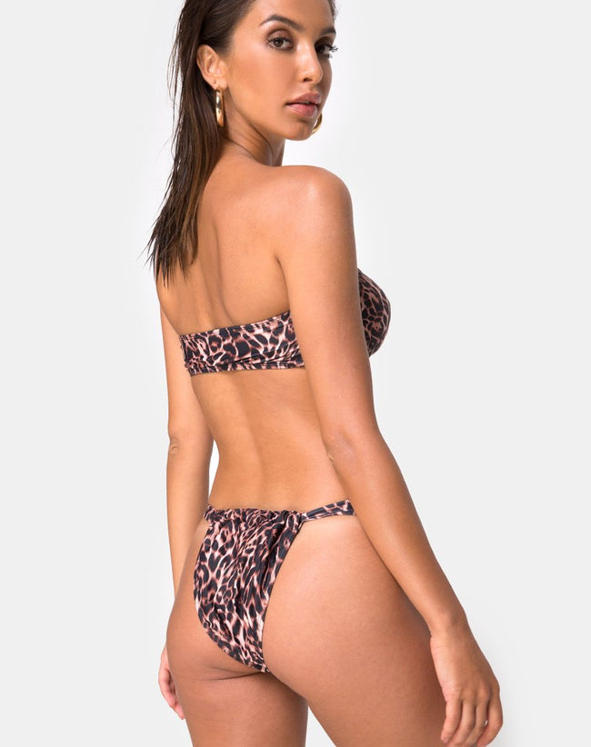 Nakeela Bikini Top in Magic Leopard by Motel