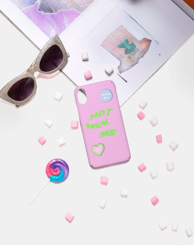 Phone Case in Matte Pink with Hot New Me by Motel X Top Girl