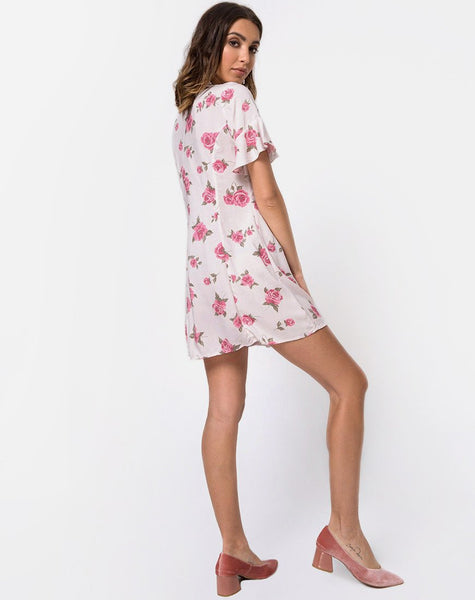 Needy Dress in Rose Blossom by Motel