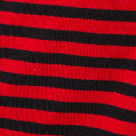 Neivie Jumper in Stripe Horizontal Black / Red By Motel