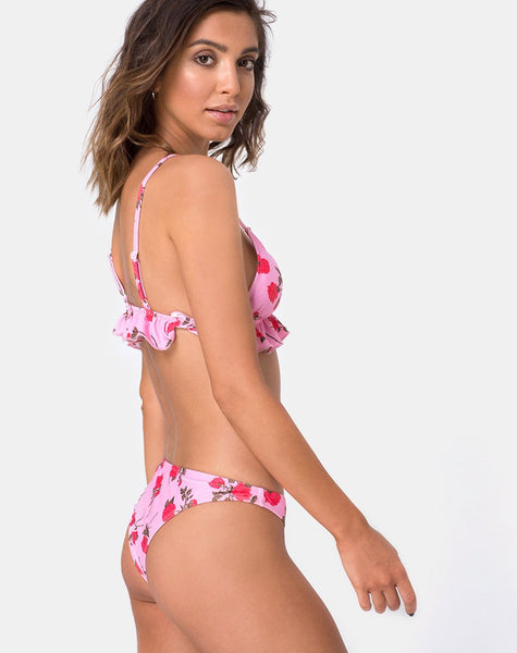 QUELLA BOTTOM BIKINI POLY ELASTANE CANDY ROSE (Z013007 CANDY ROSE)