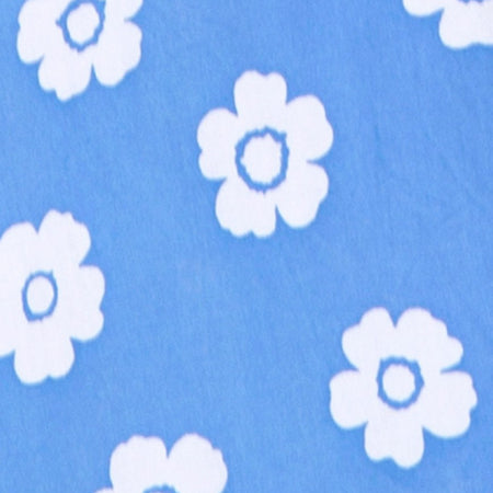 Roppan Slip Dress in Daisy Stamp Sky Blue by Motel