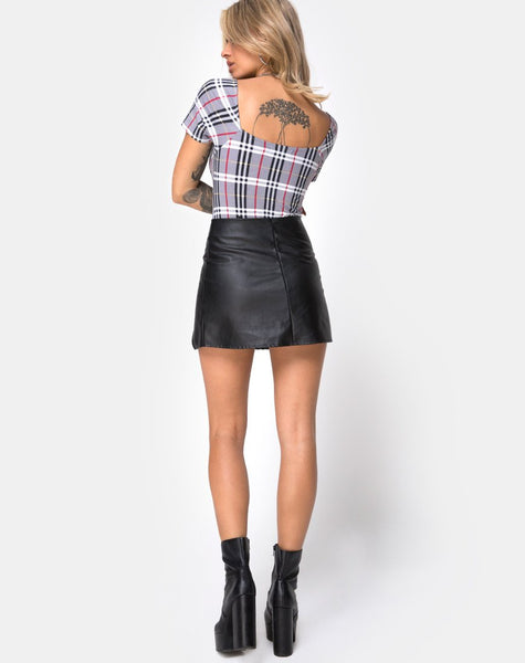 Ryon Bodice in Heritage Check By Motel