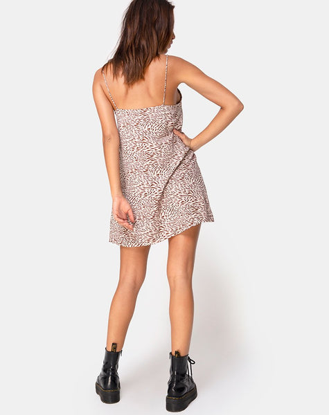 Sanna Slip Dress in Safari Taupe by Motel