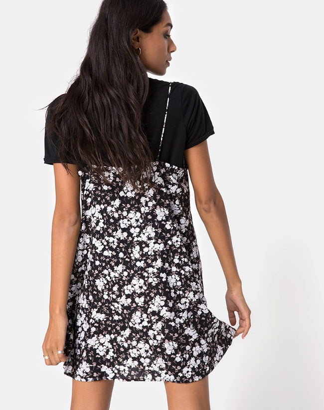 Sanna Slip Dress in Dark Wild Flower by Motel