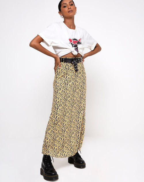 Sayan Skirt in Mini Bloom Yellow by Motel