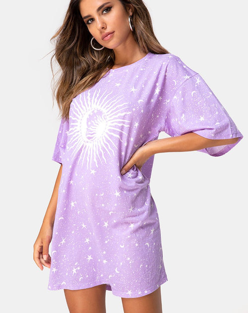 Sunny Kiss Tee in Lilac Cosmo by Motel