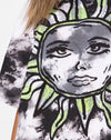 Sunny Kiss Tee in Tie Dye Celestial Lime
