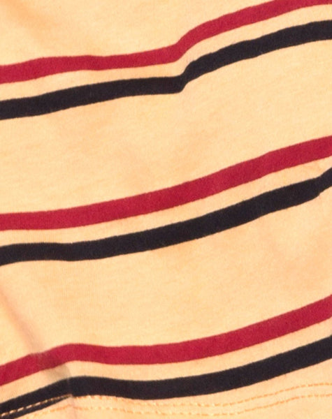 Super Cropped Tee in 70's Mustard Horizontal Stripe by Motel