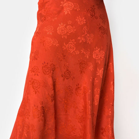 Tauri Midi Skirt in Satin Rose Rust by Motel