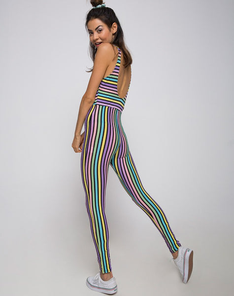 Unitard in New Stripe by Motel