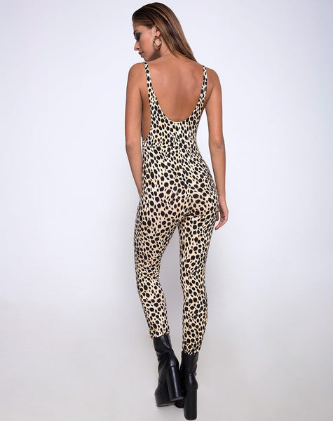 Unitard in Cheetah by Motel